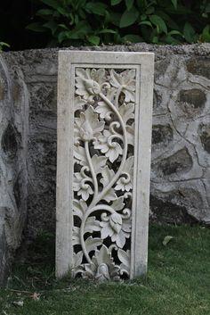 Komodo Carved Limestone Pedestal (OSTO 06)