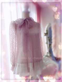 Lucia Blouse - designer top seethrough lace spring trunkshow vintage womenswear rose highfashion  vintage valentines fashion  https://www.facebook.com/emilycheongcouture