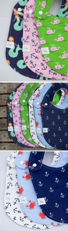 Hemming Birds Charlie Bib Nautical Collection - Durable, Modern and Fashionable for your little one! Also make great gifts :)