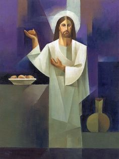 The Bread of life 🍞 John Images Of Christ, Pictures Of Jesus Christ, Christian Images, Christian Art, Catholic Art, Religious Art, Cubist Art, The Lost Sheep, Jesus Art