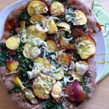 Sommerpizza mit Nektarinen