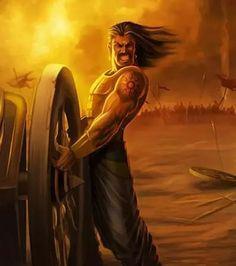 Karna - The lone son of Kunti and the unsung hero of Mahabharata Indian Gods, Indian Art, Atlantis, Mythology Paintings, Lord Rama Images, Great Warriors, The Mahabharata, Lord Shiva Painting, Durga Painting