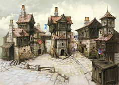 Chris Da Silva — Inspiration : Medieval buildings for 28 mm scale...