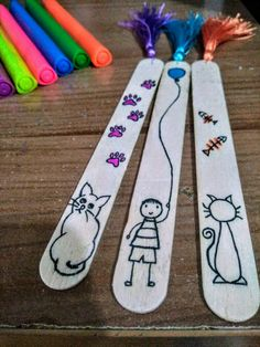 Paper Flowers Craft, Flower Crafts, Paper Crafts, Pop Stick, Stick Art, Cute Kids Crafts, Creative Crafts, Popsicle Stick Crafts, Craft Stick Crafts