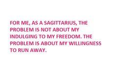When Sagittarius talks;