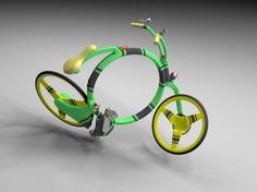 Locust : un concept de vélo pliant à l'encombrement particulièrement réduit, aux couleurs flashy pour bien être vu en ville !