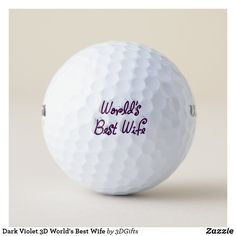 Dark Violet 3D World's Best Wife Golf Balls Ball Birthday, 50th Birthday, Birthday Sayings, Birthday Images, Birthday Greetings, Birthday Wishes, Birthday Gifts, Happy Birthday, Birthday Ideas