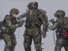 Nuthin' But Mech: Military cyborgs from John Liew