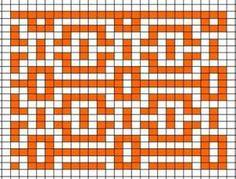 Прикрепленное изображение Crochet Blocks, Afghan Crochet Patterns, Crochet Chart, Crochet Squares, Diy Crochet, Knitting Patterns, Bead Loom Patterns, Weaving Patterns, Mosaic Patterns
