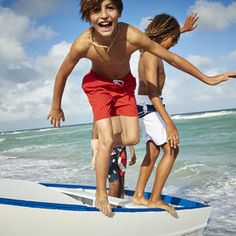 Molo Nario Swim Shorts (Little Kids/Big Kids) Boys Swimwear Windsurfers