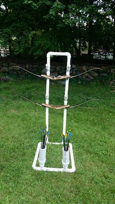 Let's see pics of your homemade bow holders for target practice! - Page 11