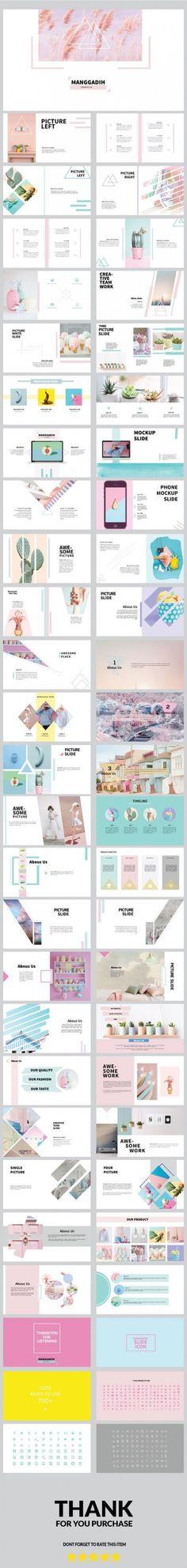 Buy Manggadih Keynote Presentation by JYXD on GraphicRiver. Ppt Design, Layout Design, Design De Configuration, Slide Design, Book Design, Branding Design, Cv Inspiration, Graphic Design Inspiration, Design Presentation