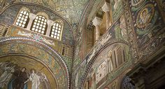 Travel Tuesday: L'Emilia Romagna... City of Ravenna which is famous for its mosaics (pictured: Basilica di San Vitale)