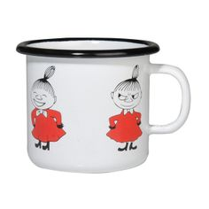 White smaller enamel mug featuring Little My in red coloring. Brighten your coffee- and teamoments with this mug. Fits even to a smaller hand due to its smaller size. Muurla combines design with durability in this retro Moomin enamel mug. Moomin Shop, Moomin Mugs, Little My Moomin, Retro, Discount Designer, Pretty Little, Branding Design, Enamel, Ebay