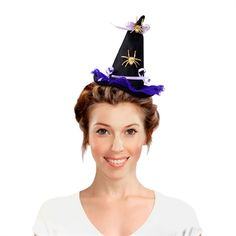 Tiara Chapéu de Bruxa Halloween