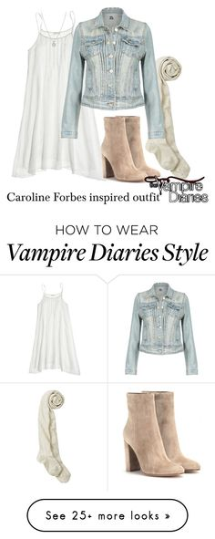 """""""Caroline Forbes inspired outfit/TVD"""" by tvdsarahmichele on Polyvore featuring CP Shades, Gianvito Rossi and Finn"""