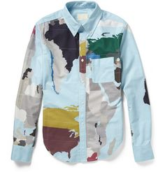 Bought! Band of Outsiders Map-Print Cotton Shirt | MR PORTER