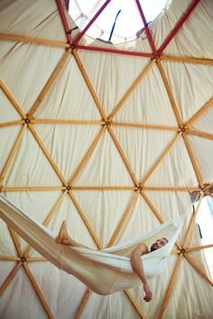 Hammock in a dome tent