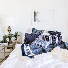 indigo and violet textiles