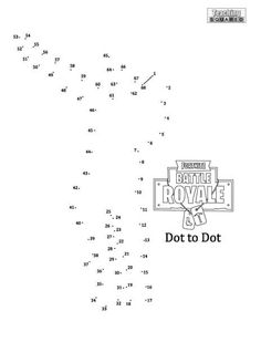 Fortnite Dot to Dot- Dab - Teaching Squared Free Printable Crossword Puzzles, Free Printable Worksheets, 6th Grade Ela, Second Grade, Color Activities, Activities For Kids, Coyote Trapping, Dot To Dot Printables, Birthday Ideas