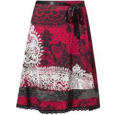 Tisdale A-linie sukně od Desigual Borgona Einkaufen d112c45e014