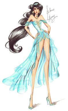 Princesas Fashion por Guillermo Meraz - Jasmine.