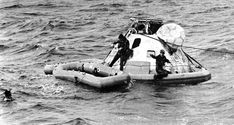 UDT-12 divers at the Apollo 8 capsule 1968 - Underwater Demolition Team - Wikipedia Criminal Law, Apollo, Underwater, The Past, Military, Boat, Dinghy, Under The Water, Boats