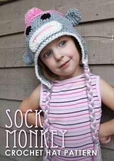 Sock Monkey Crochet Hat - must find a knitting pattern b/c I'm not an advanced crochet-er!