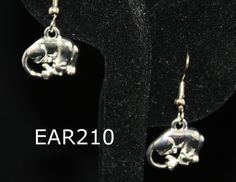 earrings, Panthers, Team mascots,  Panther earrings. handmade jewelry
