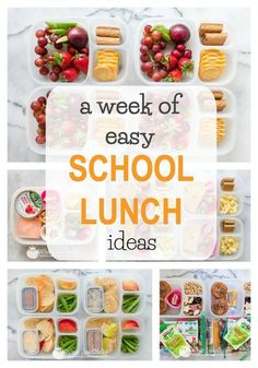 I know that I can surely use a week of easy school lunch ideas. Kids will love these packed lunches! I know that I can surely use a week of easy school lunch ideas. Kids will love these packed lunches! Cold Lunches, Healthy Lunches For Kids, Kids Meals, Healthy Snacks, Toddler Lunches, Kid Snacks, Toddler Food, Healthy Eating, High School Lunches