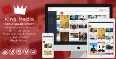 King MEDIA - Video, Image Upload and Share - Free Graphics, Free WordPress Themes & Scripts app Flash Templates, Joomla Templates, Joomla Themes, Social Share Buttons, Responsive Layout, Video Image, Wordpress Plugins, Ecommerce, Social Networks