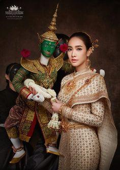 Thai Fashion, Oriental Fashion, Womens Fashion, Oriental Style, Thai Wedding Dress, Wedding Dresses, Thai Traditional Dress, Traditional Outfits, Thai Dress