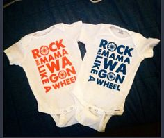 Baby Onesie rock me mama by TickleMeTurquoise on Etsy, $16.00