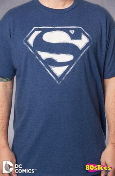 Negative Image Superman Logo T-Shirt: Superman Mens T-Shirt