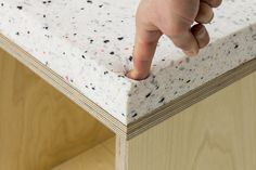 """Marbled / Stools on Behance """"Harsh and rigorous looking stools made of plywood are matched with a cushion that looks like granite, but is actually a conglomeration of soft polyurethane that perfectly simulates the stone. """""""