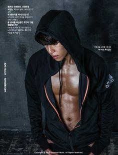 Boys Republic Leader Jo Won Jun/Onejunn. Hot damn!! Those chocolate abs...