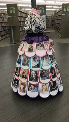 Women's History Month dress display for our branch library. March 2017