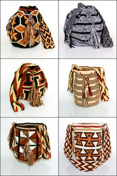 handmade bag, mochila wayuu, tapestry crochet inspiration Form Crochet, Crochet Chart, Crochet Stitches, Crochet Patterns, Mochila Crochet, Crochet Bags, Knit Crochet, Tapestry Bag, Tapestry Crochet