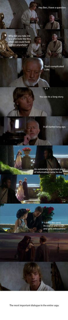 The most important dialogue in the star wars saga. - Imgur