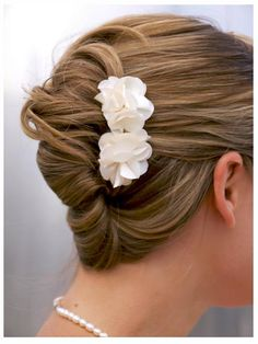 french twist - nice use of flowers