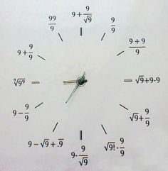 maths clock