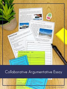 Students work together to practice argumentative essay writing without tons of grading for the teacher! Argumentative Essay Topics, Writing A Persuasive Essay, Improve Writing Skills, Writing Practice, Differentiated Instruction Strategies, 8th Grade Ela, Teaching Career, Essay Examples, Students