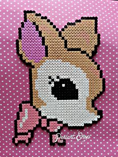 Deer hama perler beads by Perlart-shop