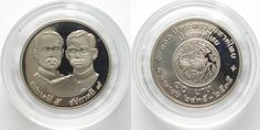 1992 Thailand THAILAND 10 Baht 1992 MINISTRY OF INFERIOR CENTENNIAL Cu-Ni Proof SCARCE!# 95711 Proof