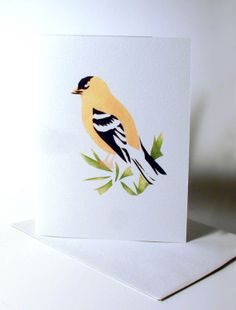 Goldfinch Image or Stenciled Card FineArtPrint by SellOriginalArt, $4.95
