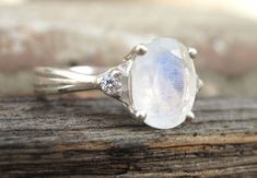 Moonstone Antique Engagement Ring, Antique Gold Ring, Vintage Moonstone Ring, Vintage Oval Engagement Ring, Antique Style, Promise Ring