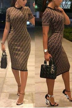 Digital Print Contrast Binding Bodycon Dress Buy trending women clothing from our store and get up to off. You will not find this rare t-shirts design in any other store, so grab this Limited Time Discount Now! Trend Fashion, Look Fashion, Autumn Fashion, Fashion Design, Feminine Fashion, Fashion 2018, Cheap Fashion, Fashion Photo, Affordable Fashion