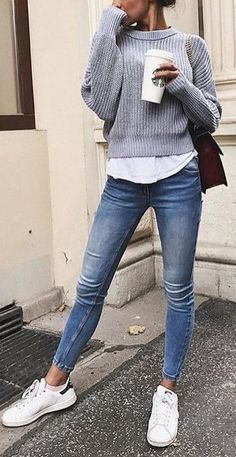 Modetrends Frankreich Herbst-Winter uyt - 15 Trendy Autumn Street Style Outfits For This Year - fall outfits Winter Outfits, Uni Outfits, Casual School Outfits, Summer Fashion Outfits, Casual Fall Outfits, College Outfits, Mode Outfits, Girly Outfits, Teen Fashion