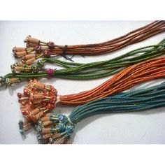 5 Pieces Adjustable Indian Cords With Tassels by gemsforjewels, $21.30