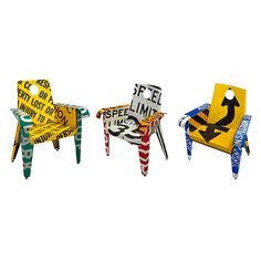 BROADWAY CHAIR | Recycled Road Signs